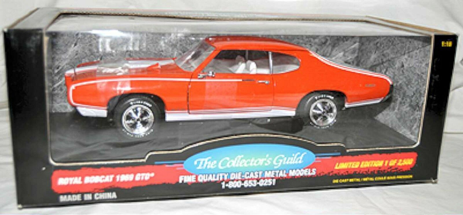 Ertl 1   18 1969 pontiac gto royal bobcat Orange 29094 amerikanische muskeln 69 1of-2500