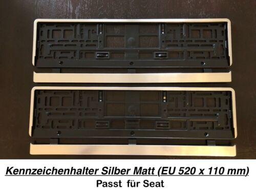 66 2x Top Kennzeichenhalter Silber Matt Chrom Optik Gebürstet Made in EU