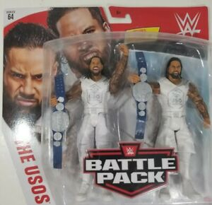 The-Usos-WWE-Battle-Pack-series-64-Includes-Smackdown-Tag-Team-Belts