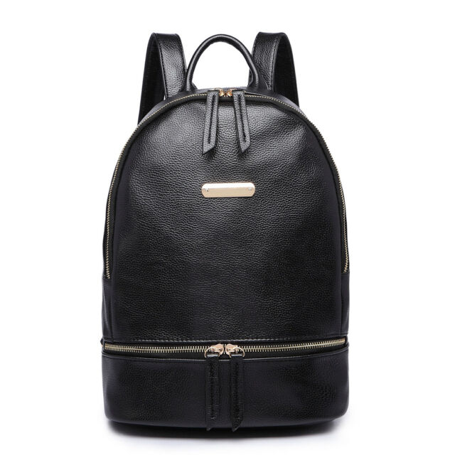 ee3a3cbbd0cd Women Faux PU Leather Skull Shoulder Tote School Backpack Handbag ...
