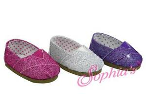 3d5def65abb0e Details about Hot Pink Glitter Slip On Espadrilles Shoes fits 18