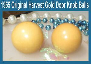 Corvette-1955-Original-Harvest-Gold-Interior-Door-Knob-Balls