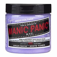 Manic Panic Vegan Semi Permanent Hair Color Dye Cream Virgin Snow White Toner