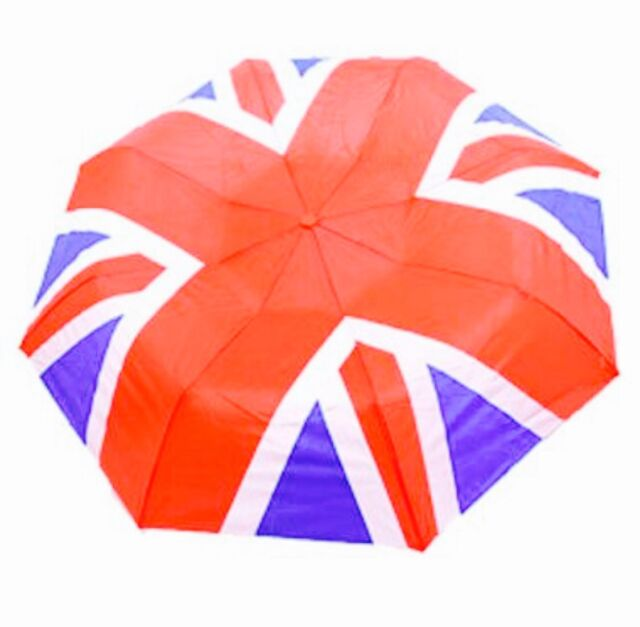LONDON Souvenir Union Jack Umbrella And Cover Travel Accessory Home New