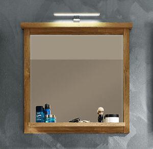 Das Bild Wird Geladen Bad Spiegel 80 Cm Mit Ablage Eiche Alteiche