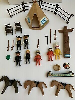 PLAYMOBIL WESTERN INDIAN DECORATED HORSES Native American Animals