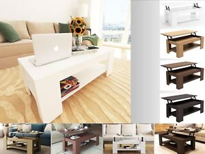 New-Caspian-Lift-Up-Top-Coffee-Table-with-Storage-amp-Shelf-Choice-of-Colour