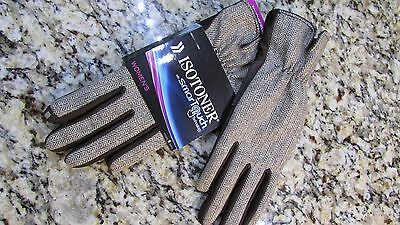 NEW ISOTONER BROWN PRINT SMARTOUCH GLOVES WOMENS XS/S TEXTING GLOVES FREE SHIP