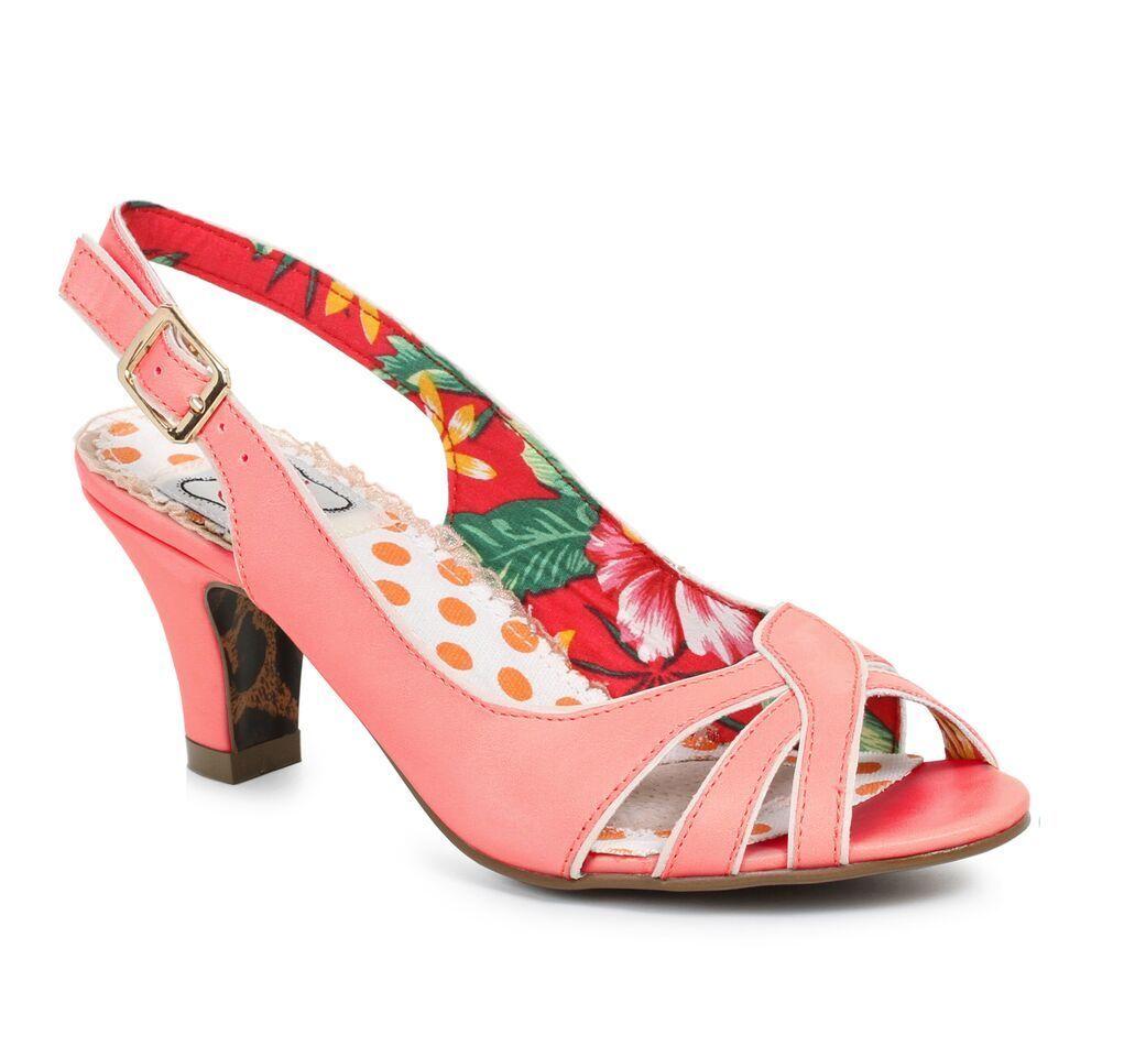 rot rot rot Vintage 50s Hawaiian Pinup Girl Sandals Heels schuhe Womans Größe 7 8 9 10 11 1f1f60