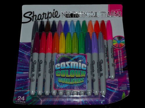 SHARPIE PERMANENT MARKERS COSMIC COLOUR RETAIL PACK OF 24 ASSORTED MARKER PENS