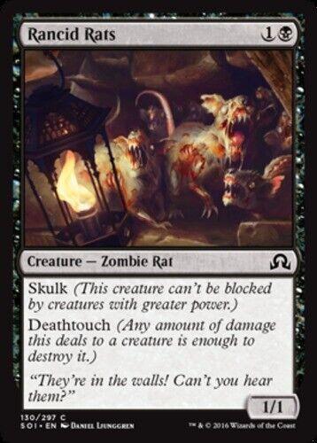 4x Rancid Rats NM-Mint English Shadows Over Innistrad MTG Magic