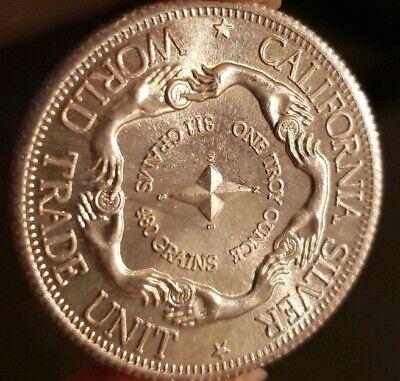 1 oz 999 Silver Round World Trade Unit California Silver 1974