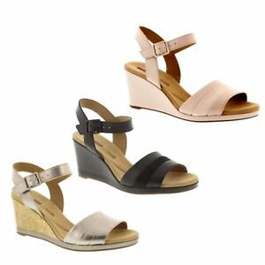 748e0a33660 Image is loading Clarks-Ladies-Wedge-Sandals-039-Lafley-Aletha-039