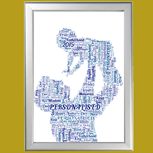 Batman new Personalised Word Art Cloud Father/'s Day Gift Dad Daddy Grandad