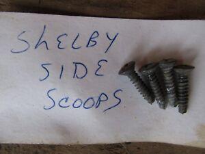 Original OEM Dodge Shelby Charger ? Side scoop Screws (4)