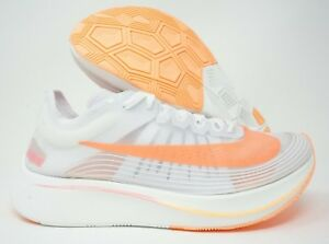 0174c3f2b70b9 Nike Womens Zoom Fly SP Running Shoes White Pink Multiple Size
