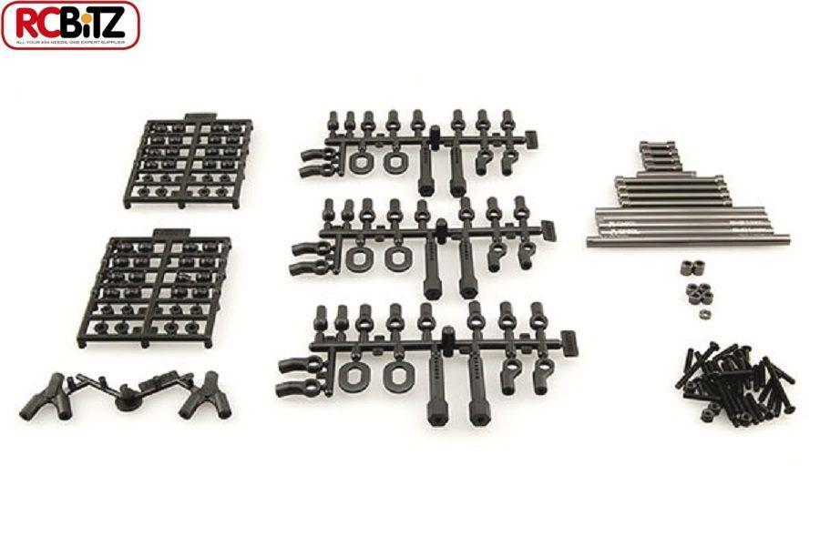 SCX10 TR UPGRADED Steering Suspension METAL Links 11.4  290mm ALL Hardware inc