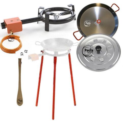 en Bois Spatule Aluminium Couvercle 20 cm brûleur à gaz 26 cm Original Paella Pan Set