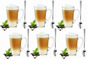 Superset-6-Latte-Macchiato-Glaeser-400ml-und-6-Loeffel-Kaffeeglaeser-Teeglaeser-HIT
