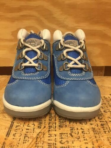 VINTAGE TIMBERLAND FIELD BOOT BOOTS  BLUE WHITE BABY TODDLER TD SZ 4-12  16813 L