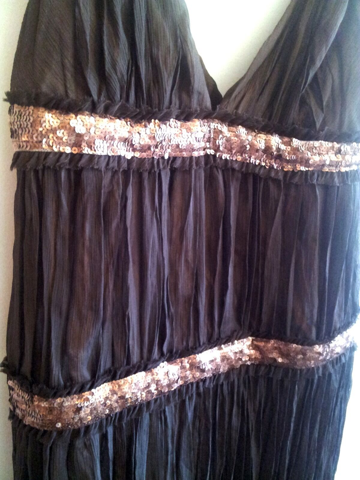 ABS by Allen Schwartz Grecian Goddess dark brown dress, dress, dress, gown, NWT, 8 cd606c