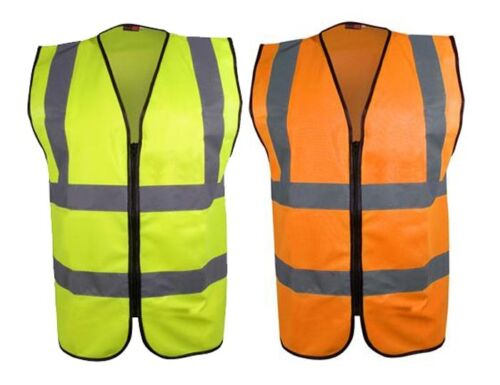 Blackrock Work Wear Executive Hi Viz Vis Enhanced Visibility Zip Vest Waistcoat