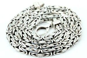 Königskette 925 Silber Sterling Halskette 56cm 5,0mm vierkant 76,75g massiv
