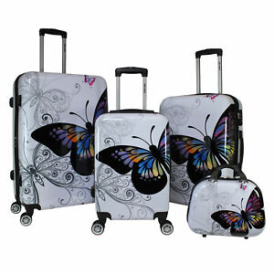 All-Seasons-Butterfly-4-Piece-Hardside-TSA-Combination-Lock-Spinner-Luggage-Set