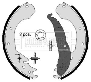Borg-amp-Beck-Brake-Shoe-Set-Shoes-BBS6215-BRAND-NEW-GENUINE-5-YEAR-WARRANTY