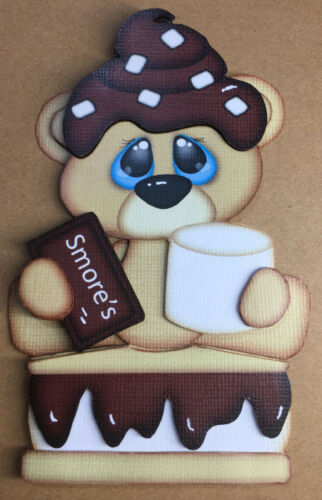 Smore bear paper piecing premade piecing for scrapbook page die cut CFAIRIES