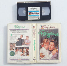 Walt Disney's Home Video Pollyanna VHS EARLY WHITE CLAMSHELL COMPLETE 45V