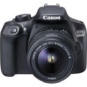 NEU-Canon-EOS-1300D-SLR-Digitalkamera-mit-18-55mm-III-Objektiv-Kit