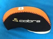 Cobra Neoprene Golf Iron Head Covers 10pc Set Orange/Black *USA SELLER*