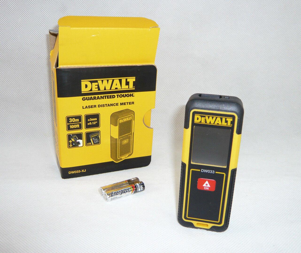 DEWALT DW033-XJ Laser Distanz Messer Messgerät Laser Entfernungsmesser DW033