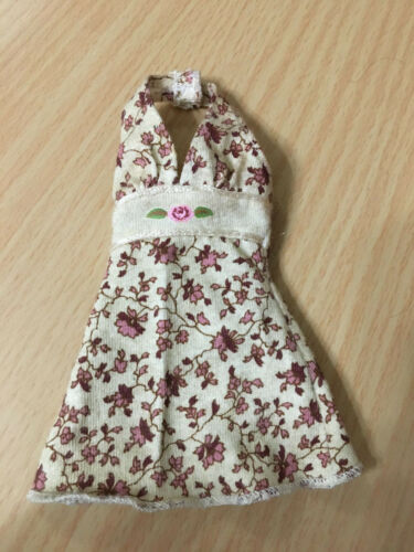Barbie Doll My Scene Chelsea Doll/'s Halter Dress Vintage Floral Print Outfit