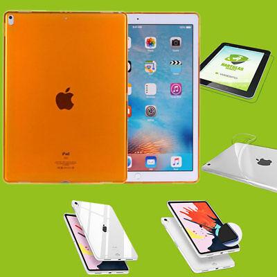 Per Apple Ipad Pro 11.0 Pollici 2018 Arancione Custodia Guscio Cover + H9 Vetro Duro Case- Profitto Piccolo