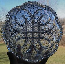 Rare Antique ABP Brilliant Period Cut Glass Bowl Bergen Excelsior Pattern