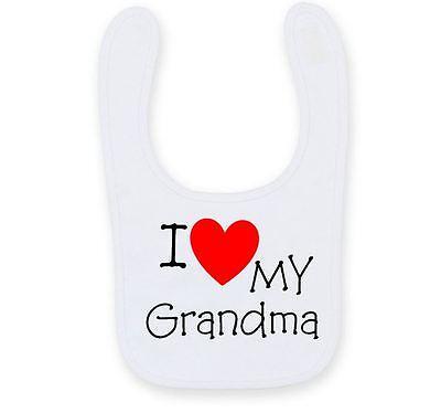 Bello Personalizzata Amo Mia Nonna Bavaglino, Carino Divertente Zia Bavaglino B008-