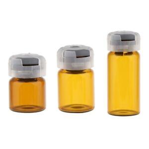 889d8de57d20 Details about 20pcs Empty Glass Bottles Rubber Stopper Serum Vials Jar  Travel Lab