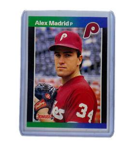 VERY HOT RARE 1989 Donruss Alex Madrid ERROR #604 Baseball Card (No Period)