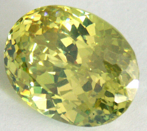 Details about  /Stunning 17.1x14.1x8.7 mm 25 cts Apple Green Oval Brilliant CZ AAAAA