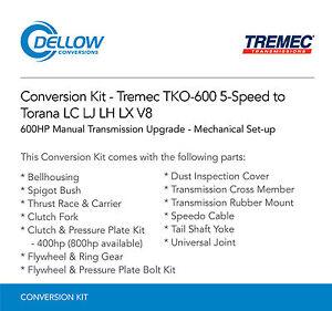 Tremec-TKO-600-5-Speed-To-Holden-Torana-LC-LJ-LH-LX-V8-Mechanical-Set-up