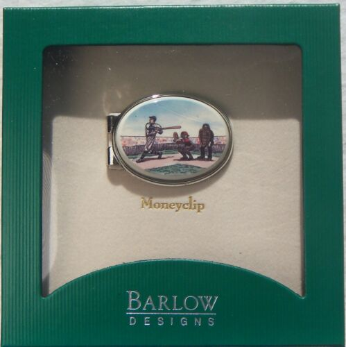 Money Clip Oval Barlow Photo Reprocution in Color Baseball 539416c new