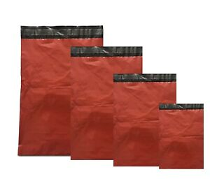 Coloured-Red-Strong-Mailing-Bags-Plastic-Mail-Post-Postage-Polythene-Strong-Seal