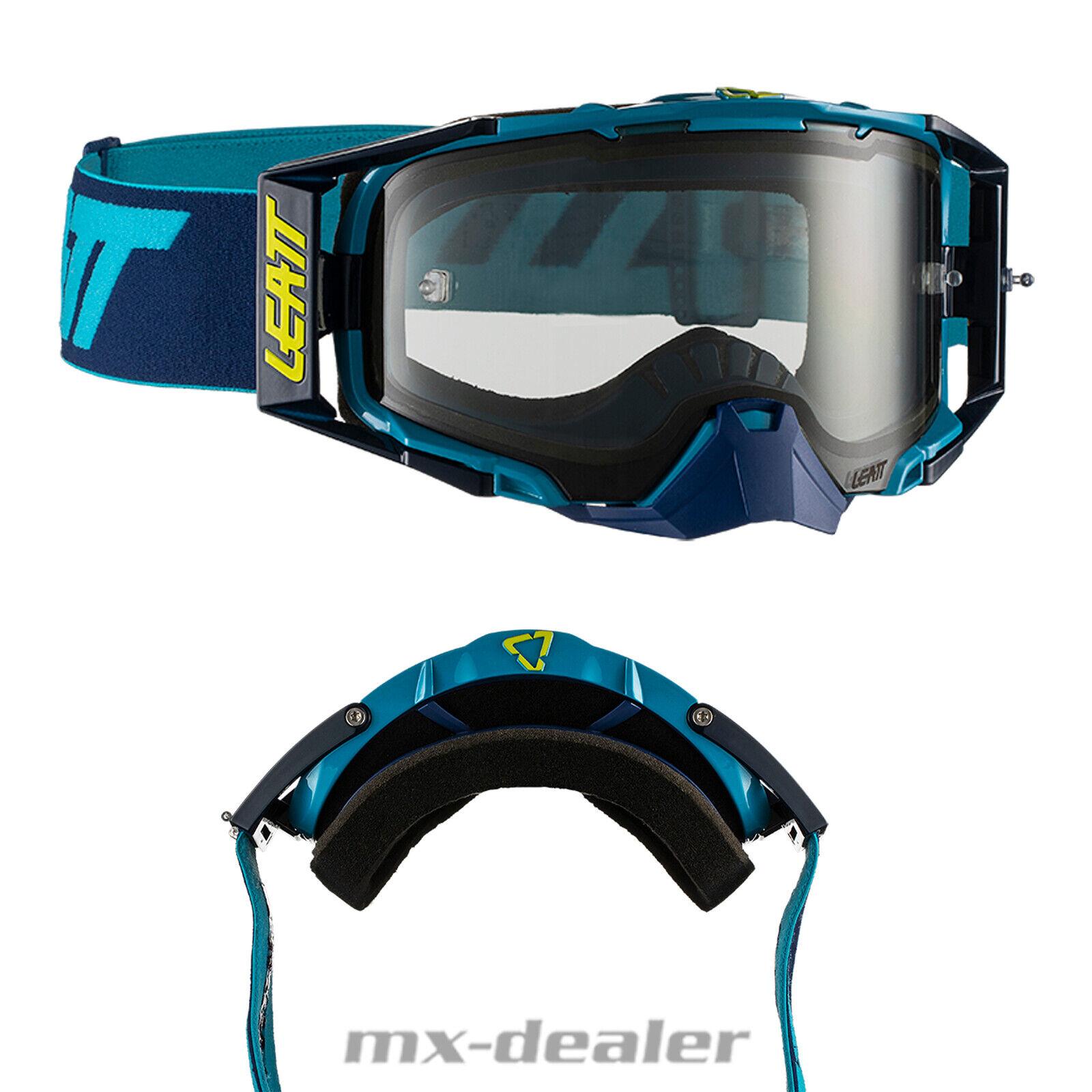 Leatt Velocity 6.5 Ink Blau Crossbrille teinté Enduro MX VTT Motocross Lunettes