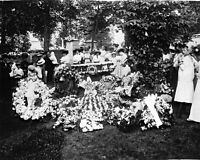 8x10 Photo: Mourners At Graveside Of Flight Pioneer Wilbur Wright, Dayton