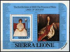 Sierra Leone 1982 SG#MS710, 21st Birthday Princess Wales MNH M/S #D36602