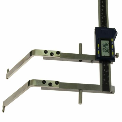 Drum Caliper Gauge Digital Electronic Wheel On Bent Jaw Inch//Metric//Fractions