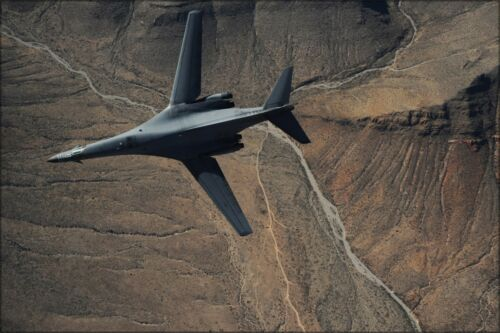 Poster, Many Sizes; A B 1B Lancer Maneuvers Over New Mexico During Training Mi