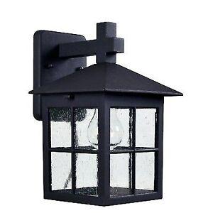Kenroy Home Greene 1 Light Black Outdoor Lantern 93277bl